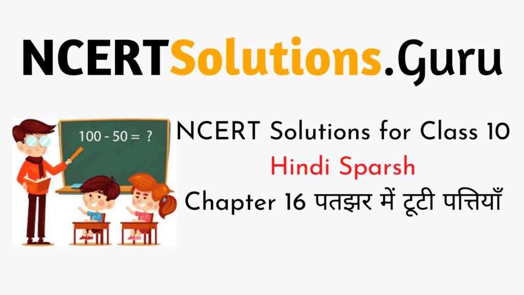 NCERT Solutions for Class 10 Hindi Sparsh Chapter 16पतझर में टूटी पत्तियाँ